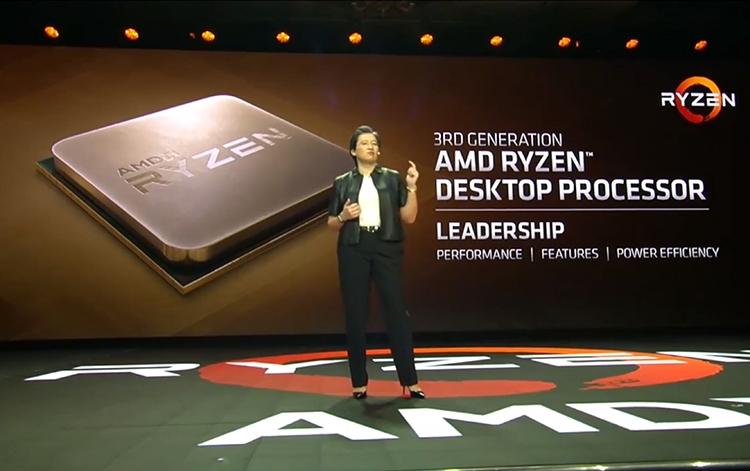 AMD подтвердила, что 7-нм процессоры Ryzen 3000 выйдут в третьем квартале