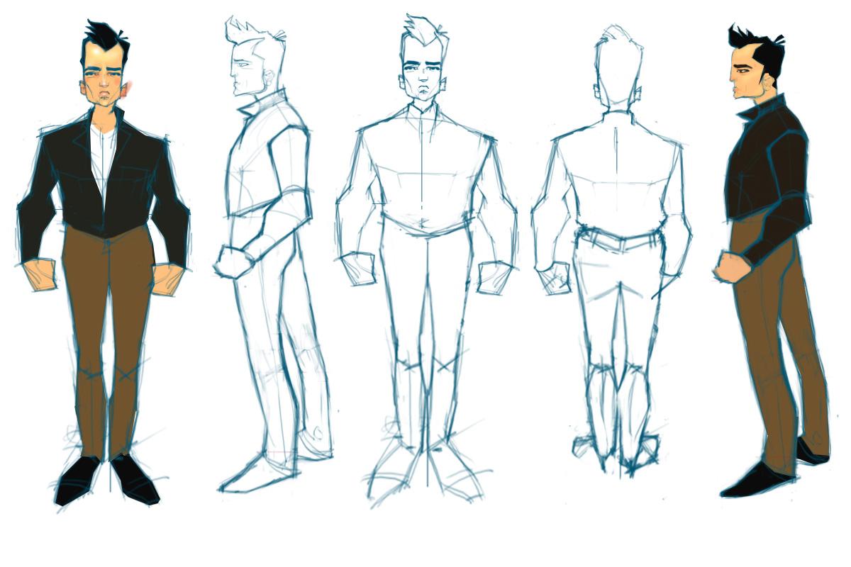 Рисунки людей в костюмах разных героев
