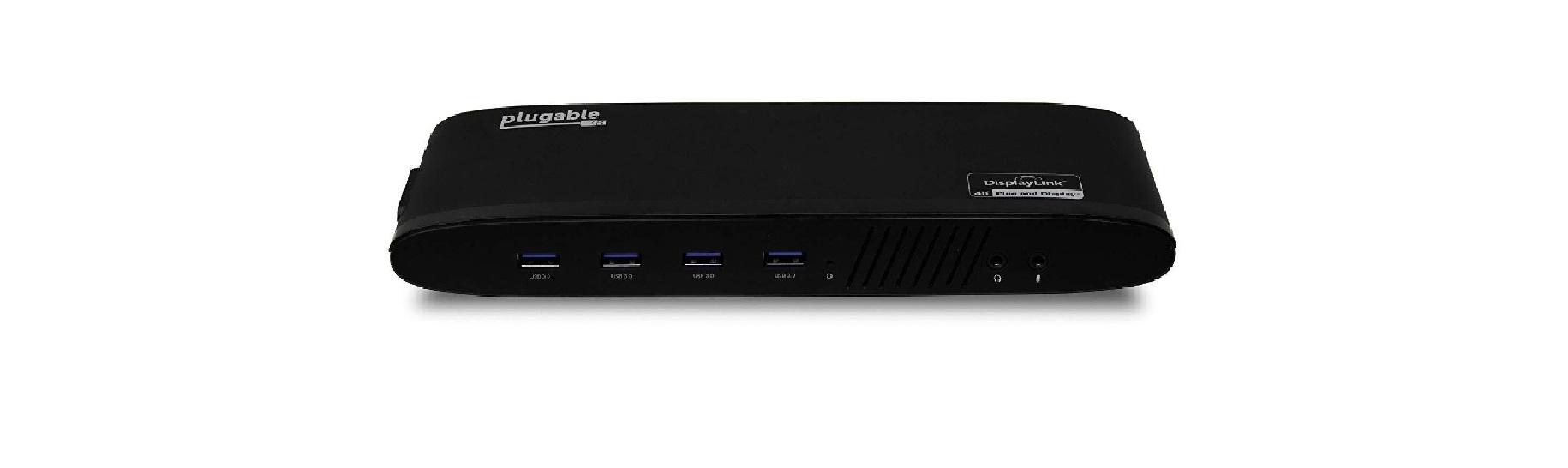 Стыковочная станция Plugable UD-6950H обеспечивает подключение двух мониторов 4K