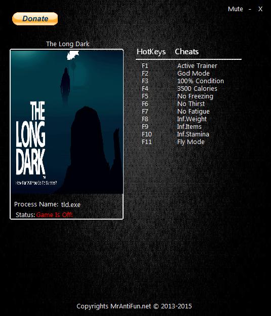 The Long Dark: Trainer (+10) [3.25] {MrAntiFun}