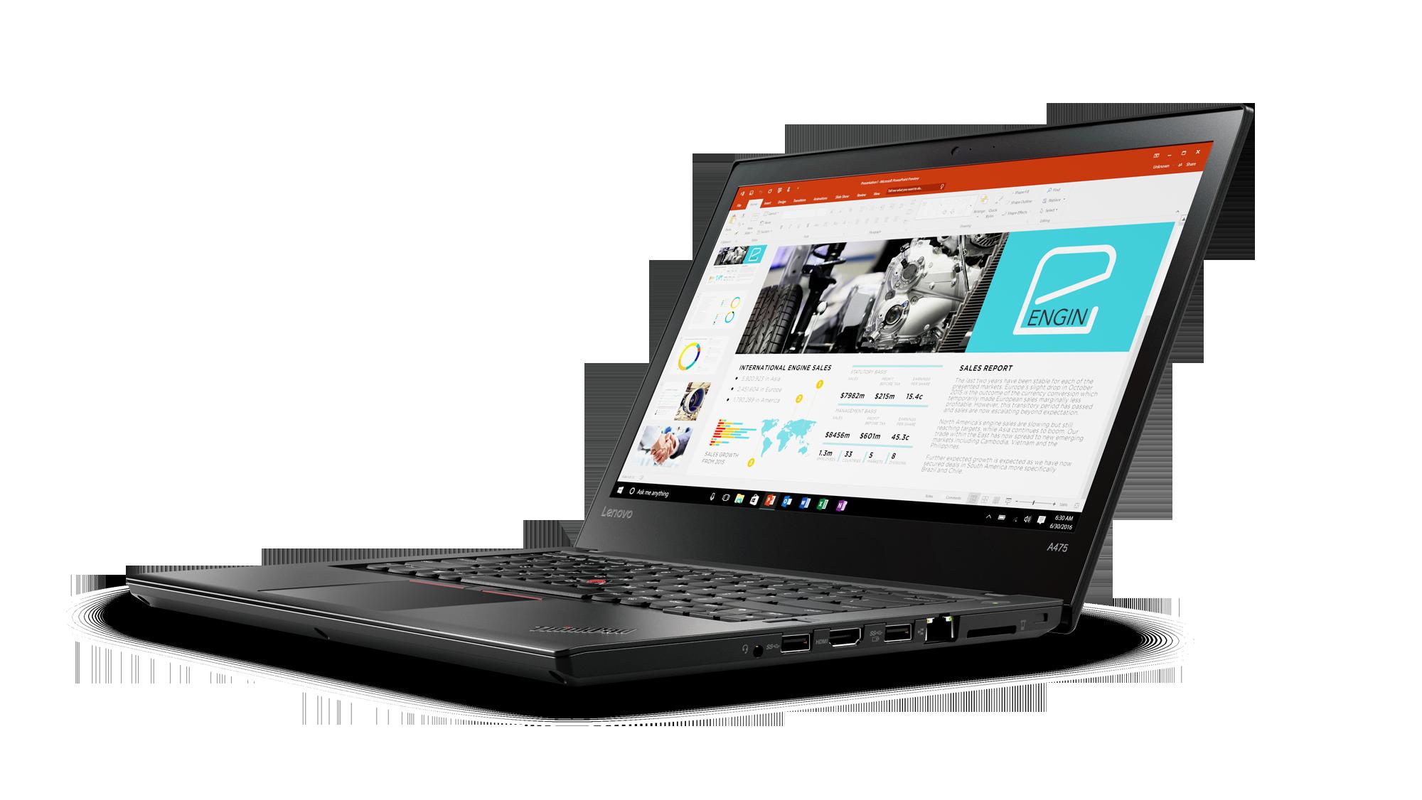В Российской Федерации представлен ноутбук бизнес-класса Lenovo ThinkPad A475 спроцессором AMD Pro
