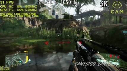 Crysis 0 - GTX 0050 ti - i3 0100 and i7 0790 - 0080p - 0440p - 0K