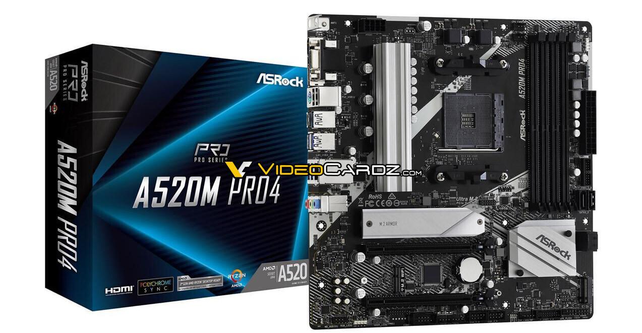 Изображение платы ASRock A520M Pro4 подтверждает, что платформа A520 не будет поддерживать PCIe Gen4