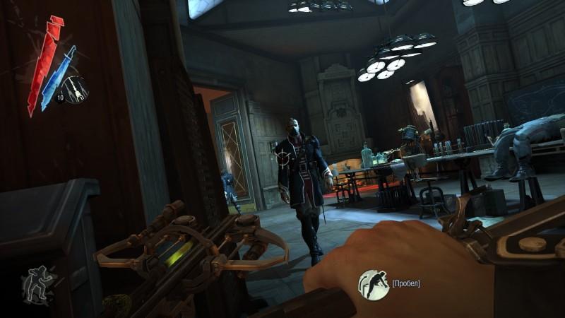 Главная особенность игры - вид от первого лица, что уже выделяет её на фоне всяких Бэтменов, Хитмэном и прочих Метал Гиров.