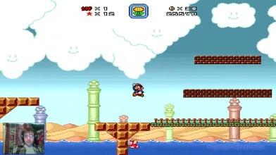 Super Mario Bros. X - 2 уровень - Медузко - маньяк (прохождение на русском)