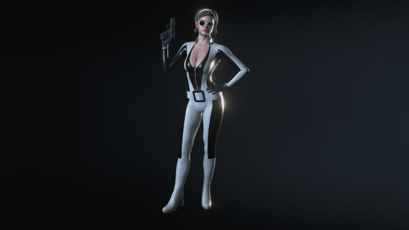 Чёрно-белый костюм