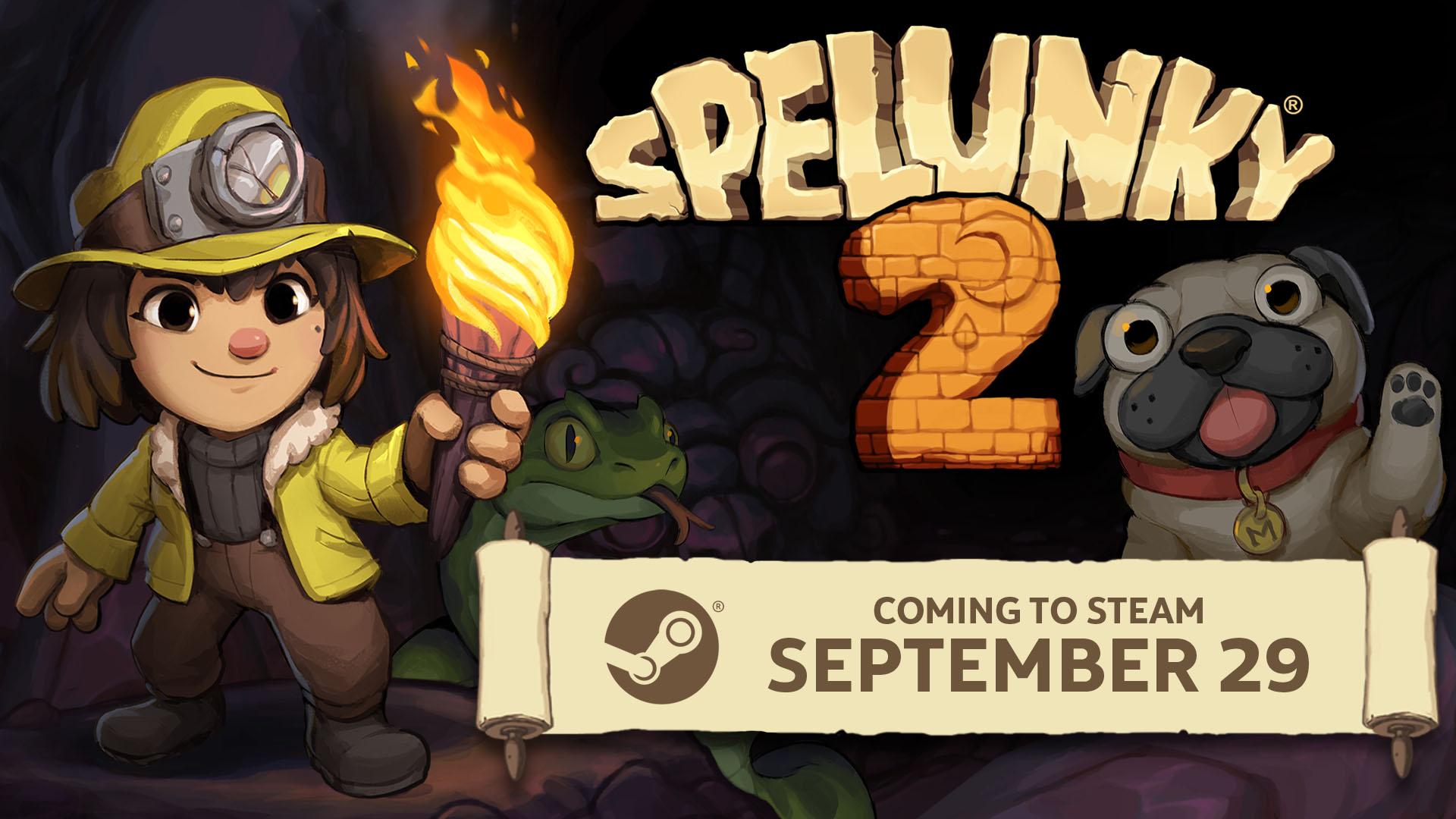 Релиз PC-версии Spelunky 2 состоится 29 сентября