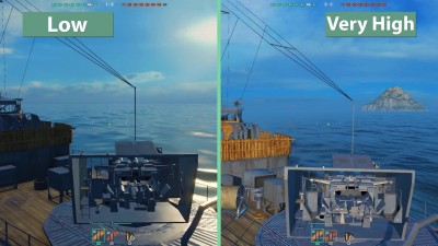 "World of Warships Beta ""Сравнение графики Low vs. Very High"""