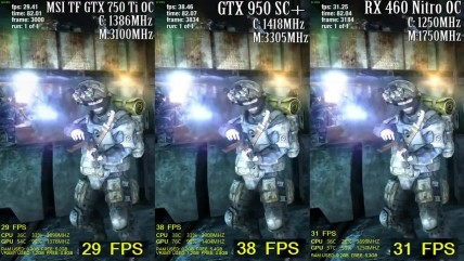 Metro Redux - GTX 750 ti vs GTX 950 vs RX 460 - Side By Side Comparsion