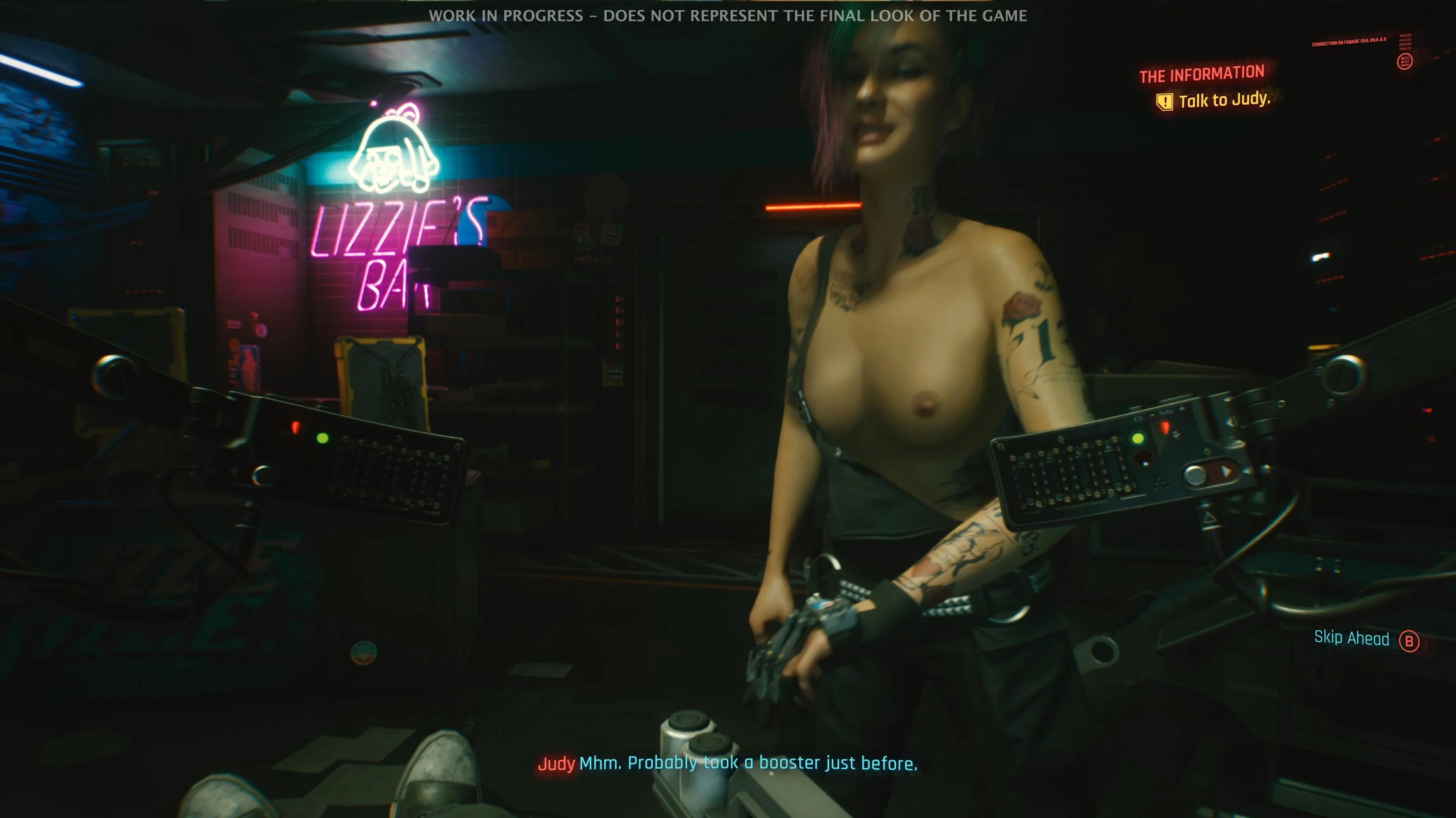 Джуди из Cyberpunk 2077 уже успели раздеть