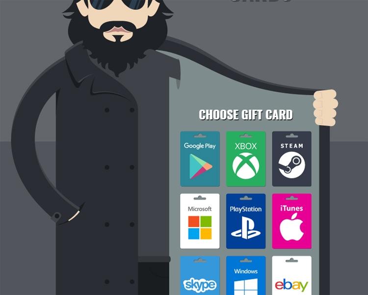 Хакеры при помощи подарочных карт украли личные данные