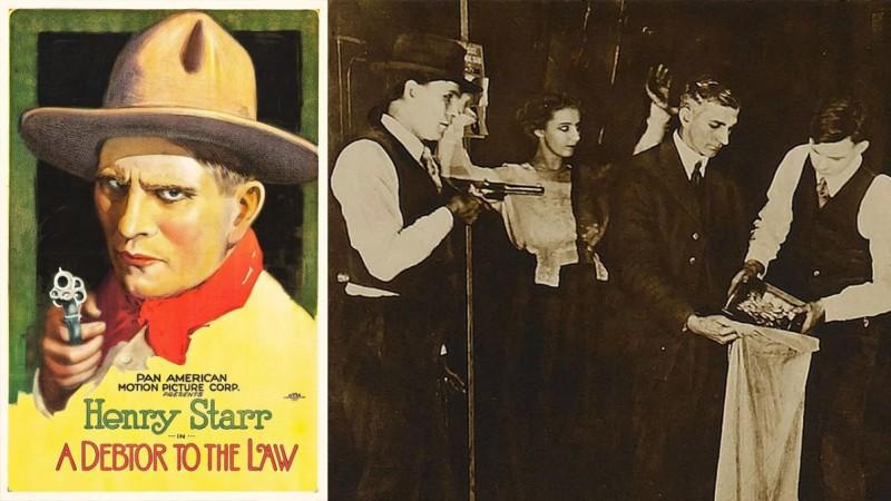 Генри Старр сыграл сам себя в немой ленте «Должник закона» (1919)