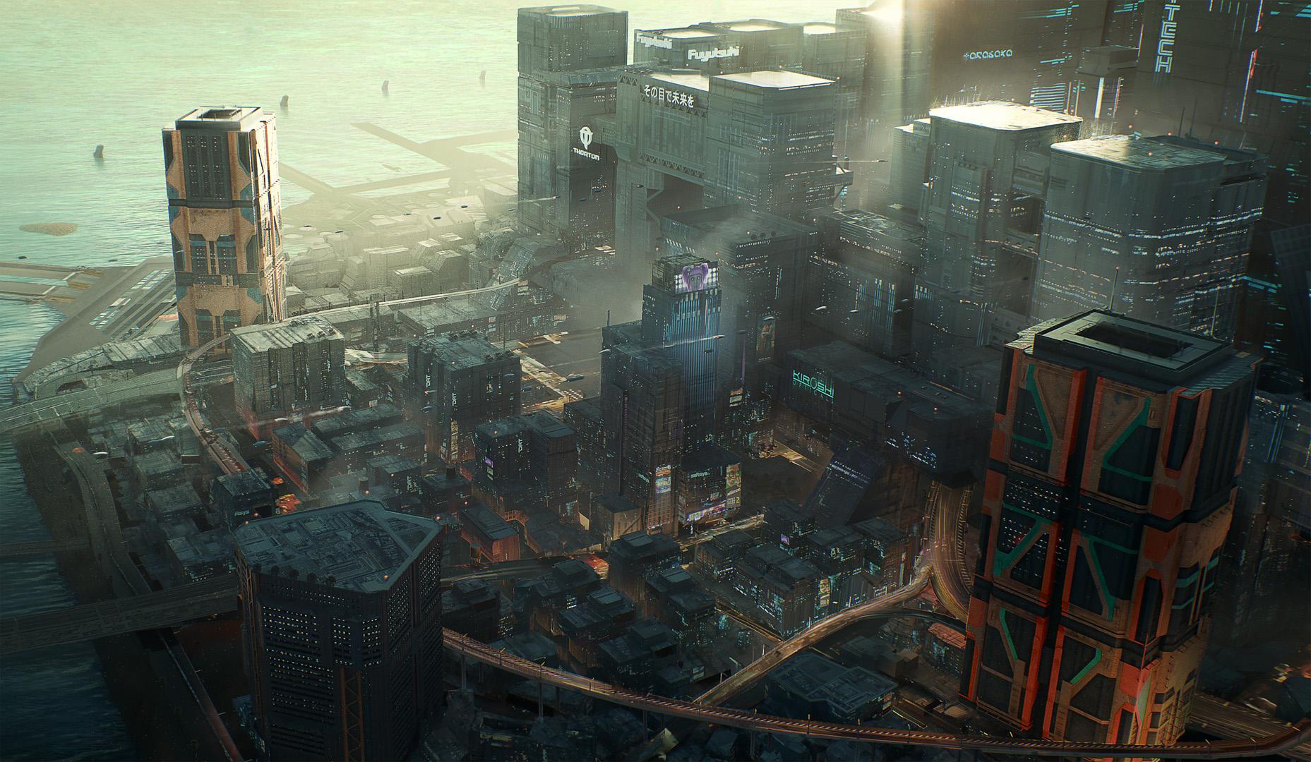 Cyberpunk 2077 - представления района Хейвуд в Найт-Сити