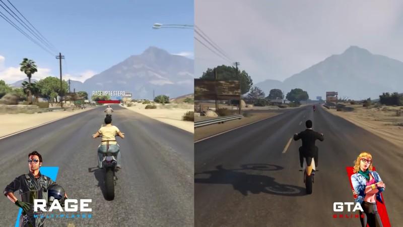 Сравнение синхронизации RAGE:MP с синхронизацией из GTA Online