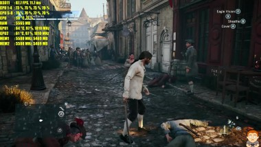 Assassin's Creed Unity GTX 1080 TI SLI 4K Ультра/Частота кадров