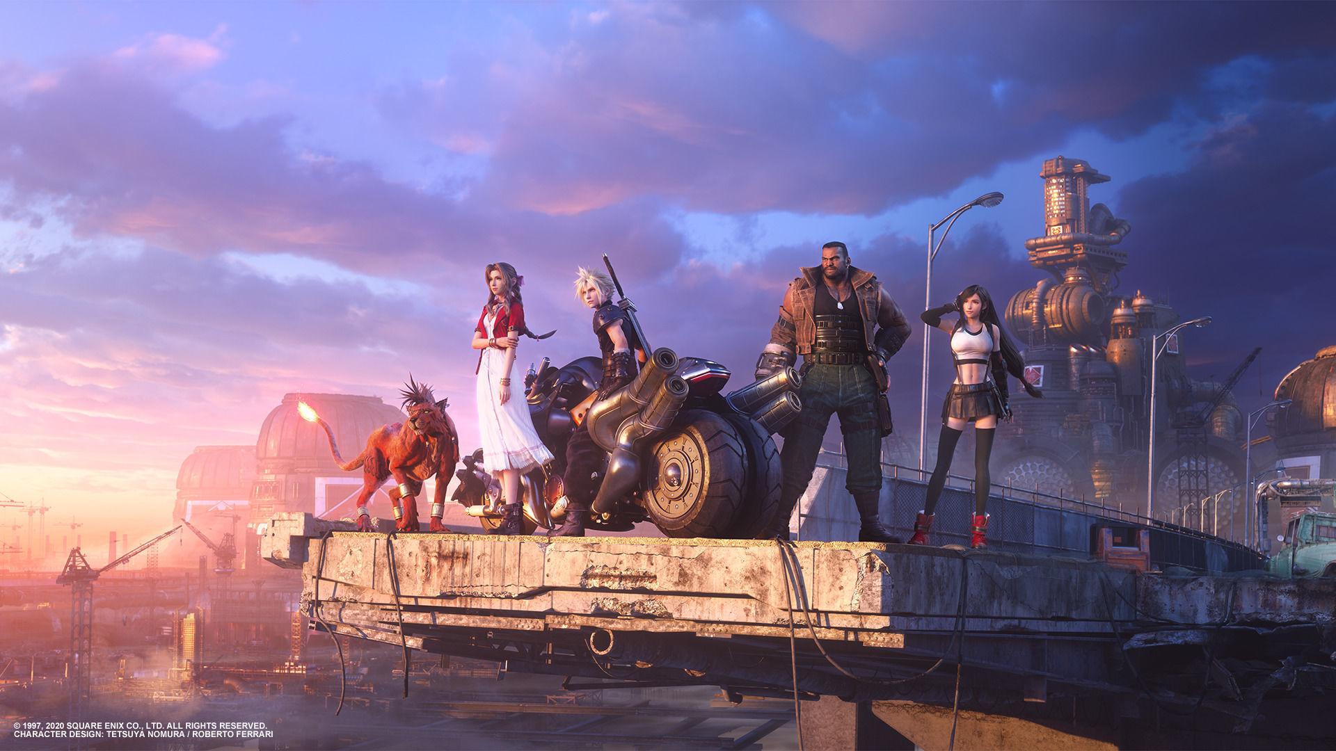 Клауд и его друзья на новом ключевом арте Final Fantasy VII Remake