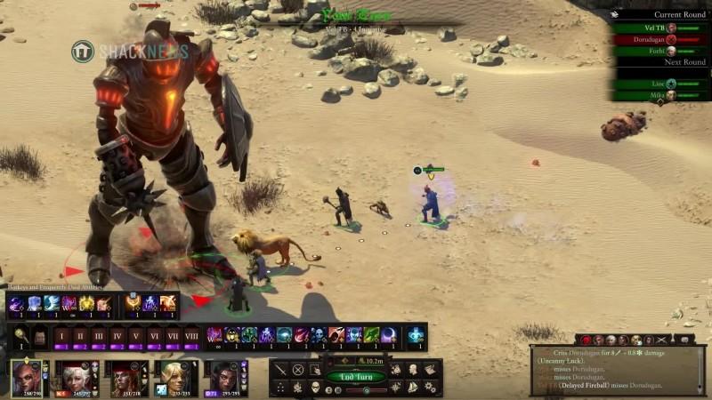 Pillars of the Eternity 2: Deadfire - Геймплей пошагового сражения