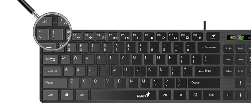 Представлена клавиатура Genius Slimstar 126