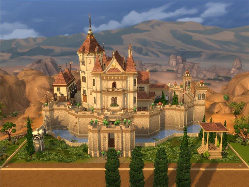 Скачать Замок Симс 4