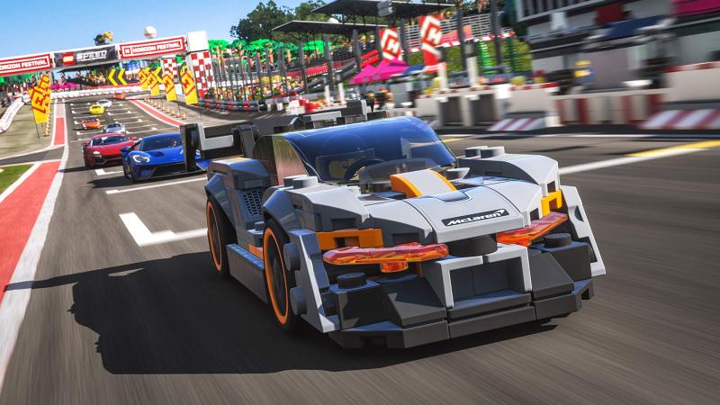 Ничего необычного, просто McLaren Senna с конструктора Lego в Forza Horizon 4