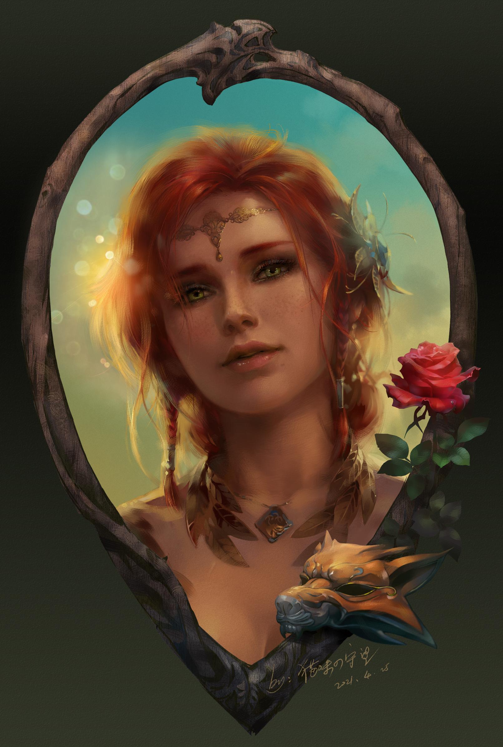 Авторы Ведьмака влюбились в фанатский портрет Трисс Меригольд