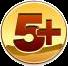 5+ Пять с плюсом на золотом фоне смайлики картинки