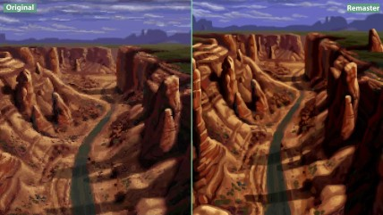 Full Throttle - Сравнение Original DOS (1995) vs. Remastered (2017) 4K (Candyland)