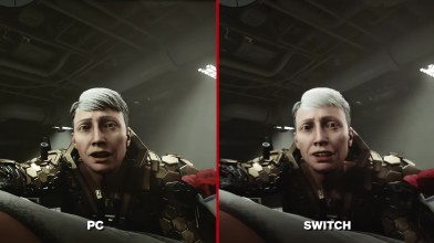 Wolfenstein 2: The New Colossus Сравнение графики - Nintendo Switch vs. PC