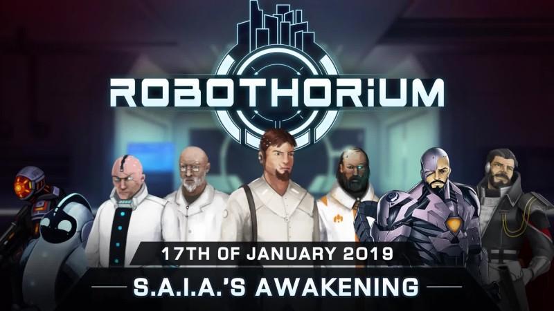 Трейлер киберпанк-новеллы S.A.I.A.'s Awakening: A Robothorium Visual Novel