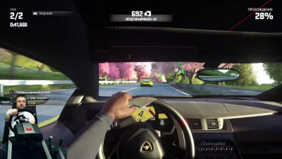 LAMBO-Челлендж - быстрые круги - Driveclub PS4 + руль Fanatec ClubSport