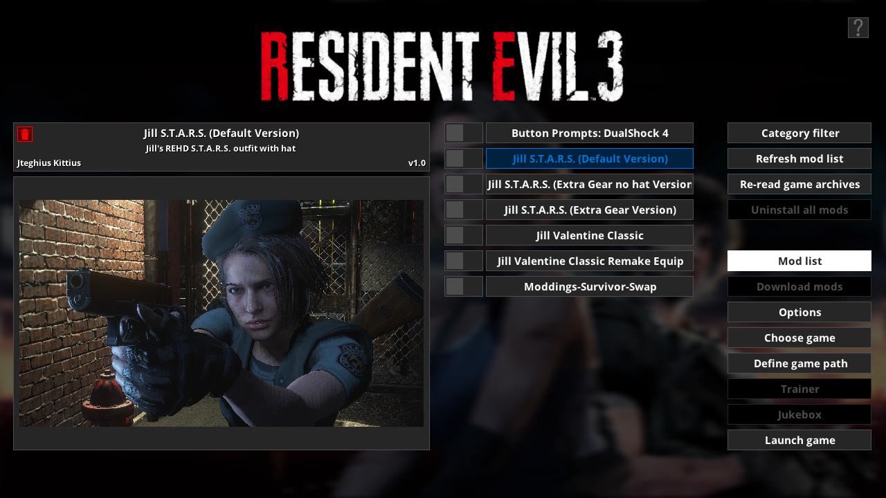 Мод Fluffy Manager 5000 теперь поддерживает Resident Evil 3 Remake и Resident Evil Resistance