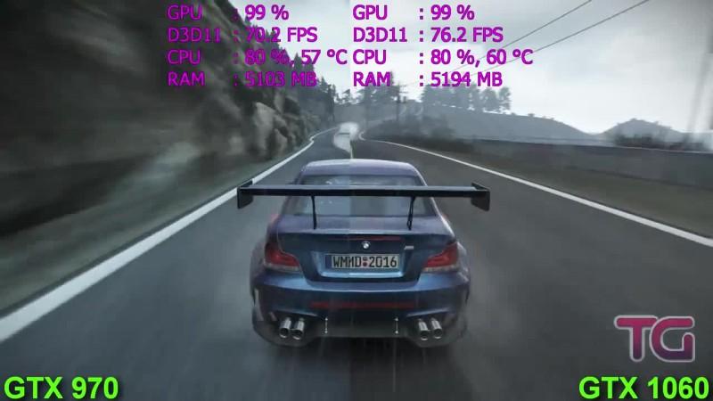 GTX 970 vs GTX 1060 Тест в 7 играх (i5 7600k)