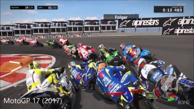 MotoGP 13 vs MotoGP 14 vs MotoGP 15 vs Valentino Rossi: The Game vs MotoGP 17 - Сравнение геймплея