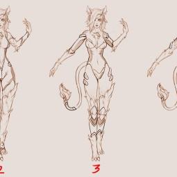 Дизайнер персонажей Subverse опубликовал концепт-арты кошкодевочки Тарон Крааск