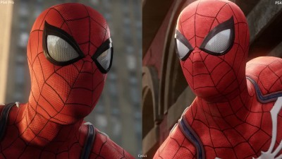 Spider-man PS4 Pro vs PS4 Early 4K Graphics Comparison