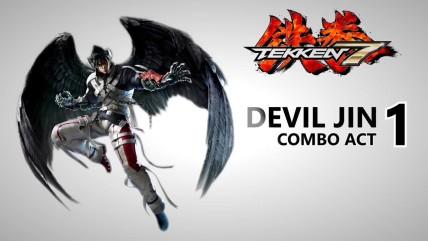 Tekken 0 - мощьные комбинации персонажа Devil Jin