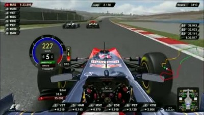 "F1 2011 ""DRS and KERS in USE RED BULL IN TURKEY- Eder Belone"""