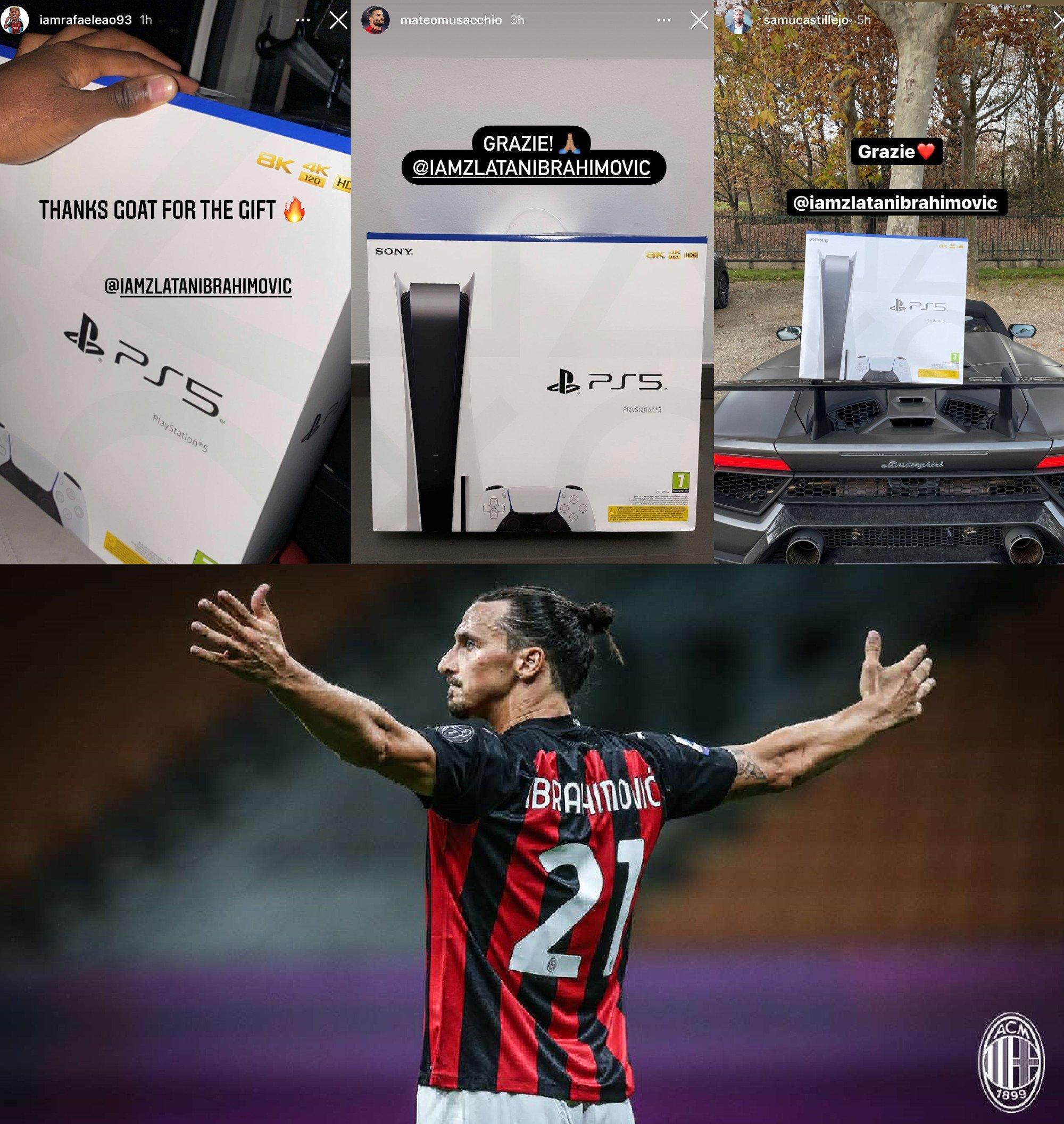 Ибрагимович подарил одноклубникам консоли PlayStation 5