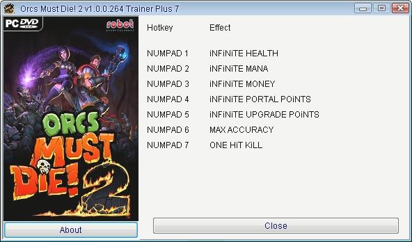 Orcs Must Die! 2: Trainer (+7) [1.0.0.264] {GRIZZLY / PlayGround.ru}