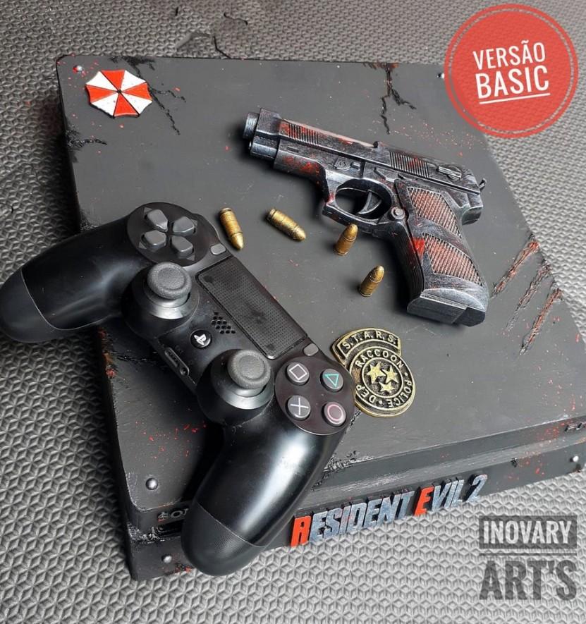 Накладной короб PlayStation 4 в стиле Resident Evil 2
