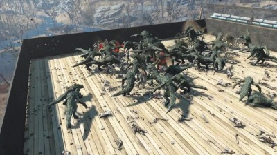 Fallout 4 - 50 GATORCLAWS против 100 SYNTHS