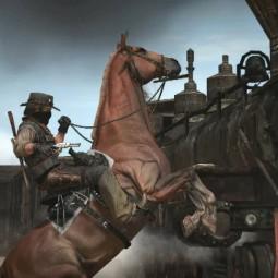 Игрок Red Dead Redemption 2 воссоздал рекламные изображения RDR1