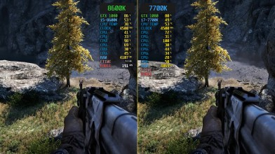 Сравнение Far Cry 4 i5-8600K vs. i7-7700K (4.5GHz)