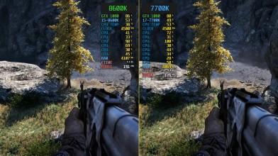 Сравнение Far Cry 4 i5-8600K vs. i7-7700K (4.5GHz)