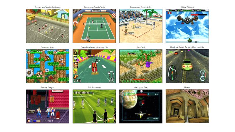 Вся библиотека игр для Zeebo занимает чуть больше 600 МБ
