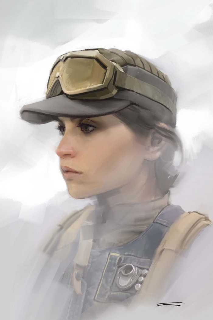 Jyn (Felicity Jones) In Cap