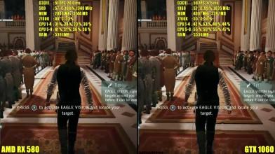 Assassin's Creed Unity GTX 1060 Vs AMD RX 580 Сравнение частоты кадров