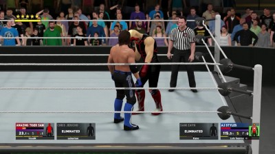WWE 2K17 Online Elimination Tag Team Match - Chris Jericho & Tiger Sam VS Aj Styles & Sami Zayn