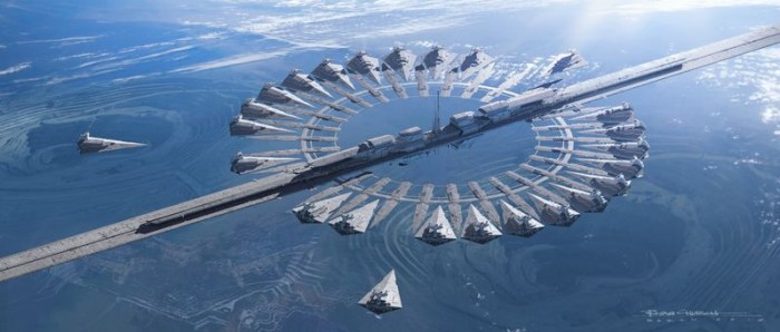 Imperial Base Planet-Star Destroyer Docking Base