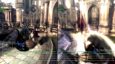 "Devil May Cry 4 Special Edition ""Сравнение частоты кадров PS4 vs Xbox One от Digital Foundry"""